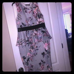 Boohoo floral bodycon dress